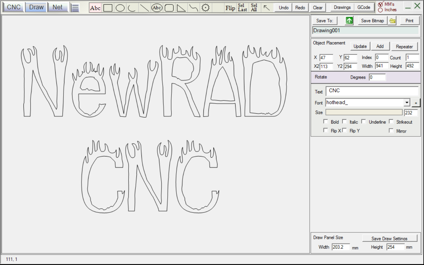 All of these fonts plus many more in the app 163 fonts for Cnc lettering software